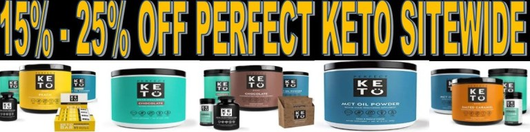 perfect keto dicount coupon promo code TGC15 THATTOPTEN THEGREENCABBY