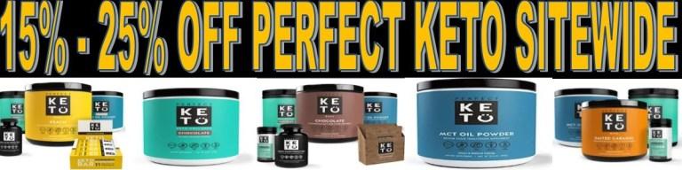 perfect keto dicount coupon promo code TGC15 THATTOPTEN THEGREENCABBY